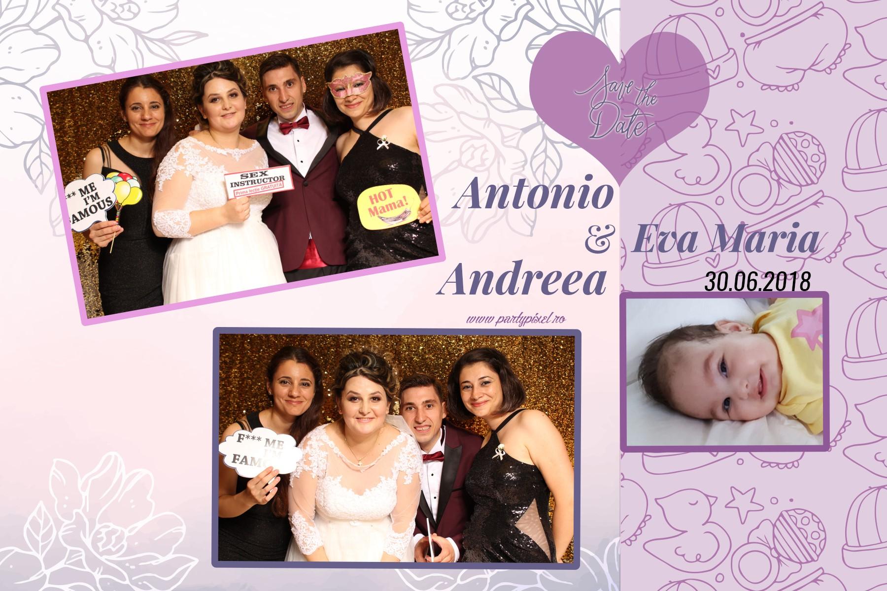 Cabina foto nunta Antonio si Andreea