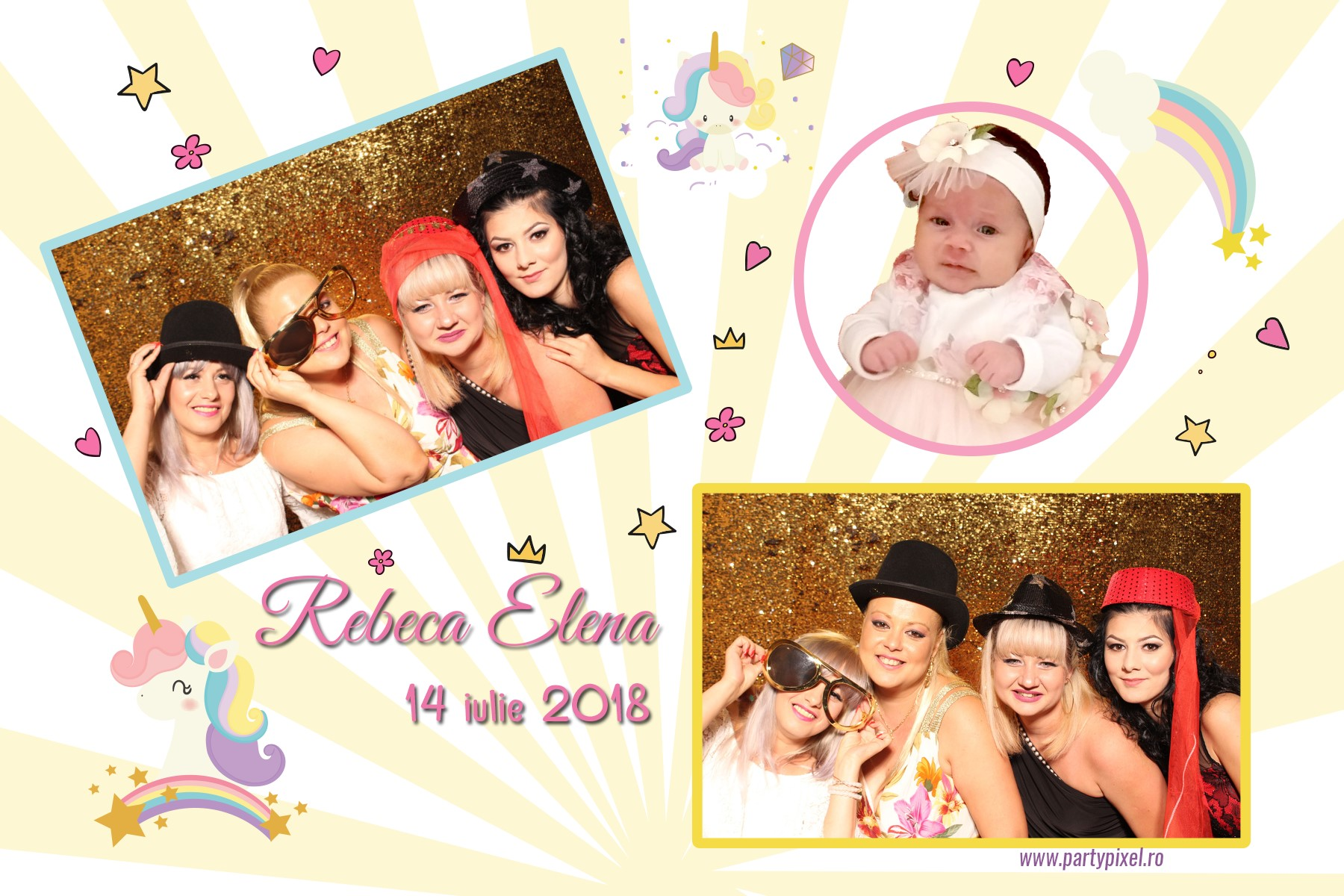 Cabina foto botez Rebeca Elena
