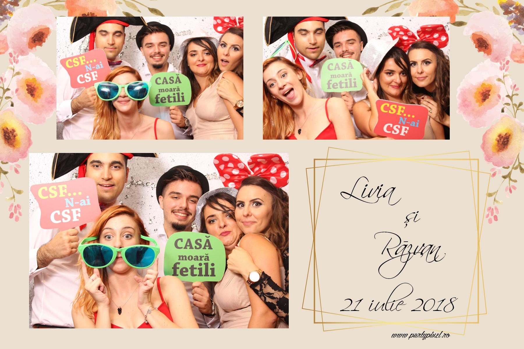 Cabina foto nunta Livia si Razvan