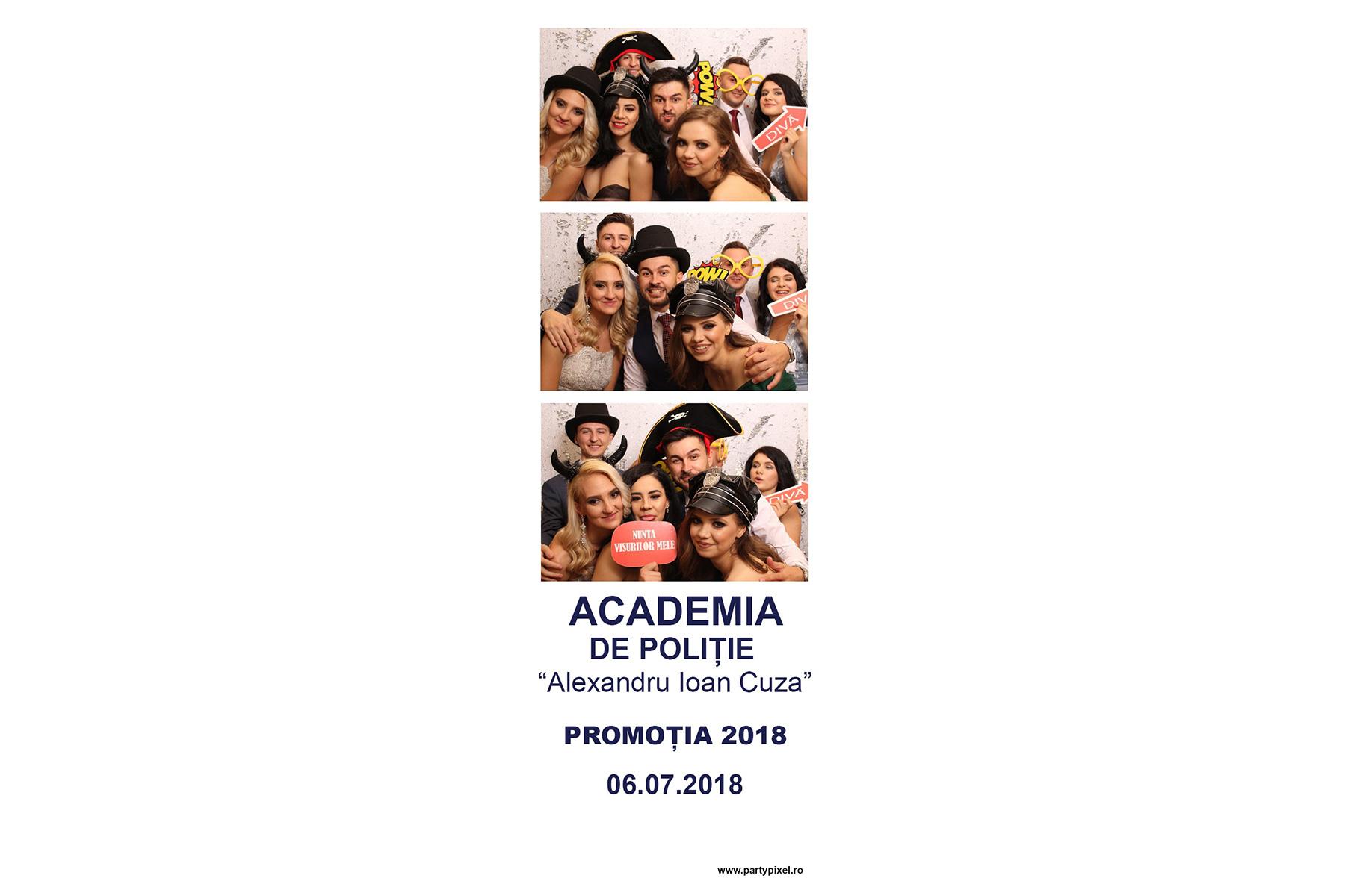 Cabina foto Promitie Academia de Politie