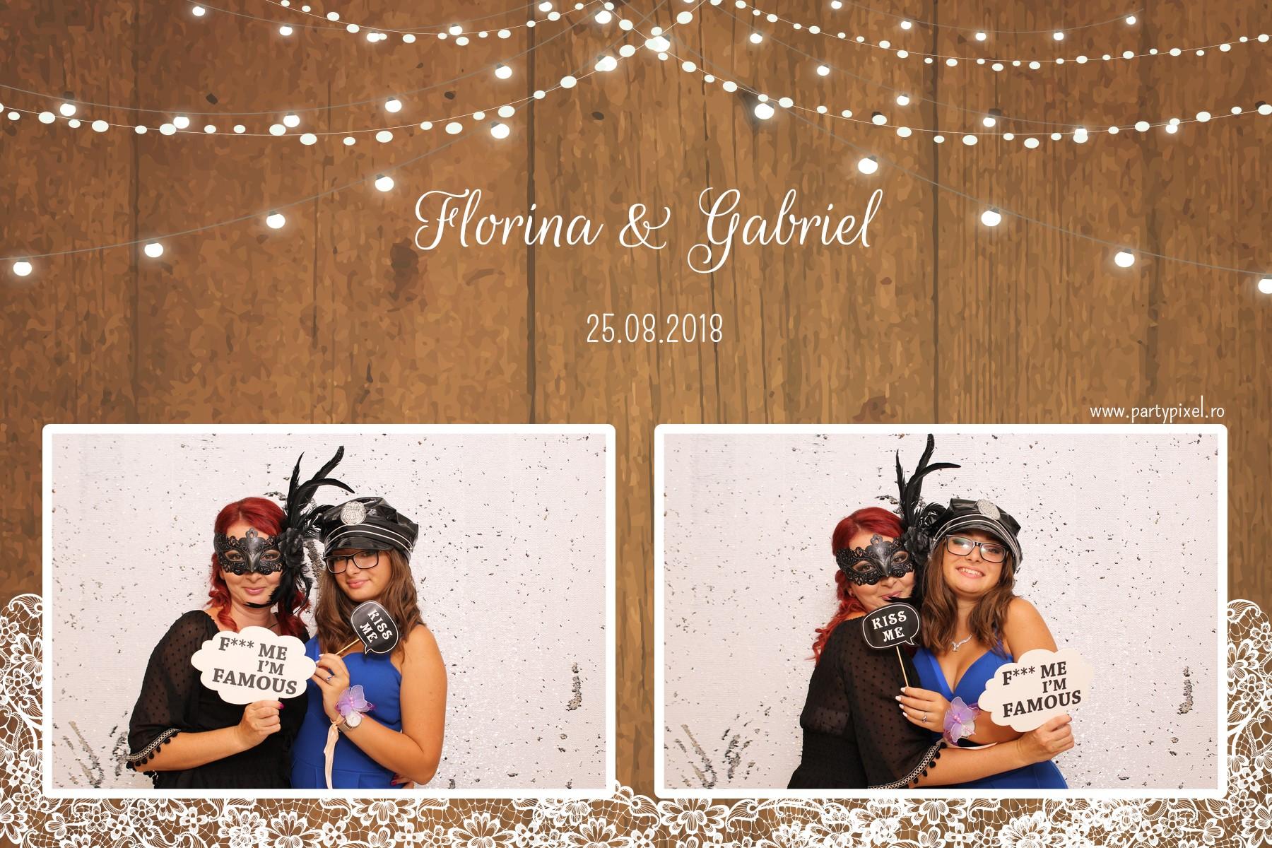 Cabina foto nunta Florina si Gabriel