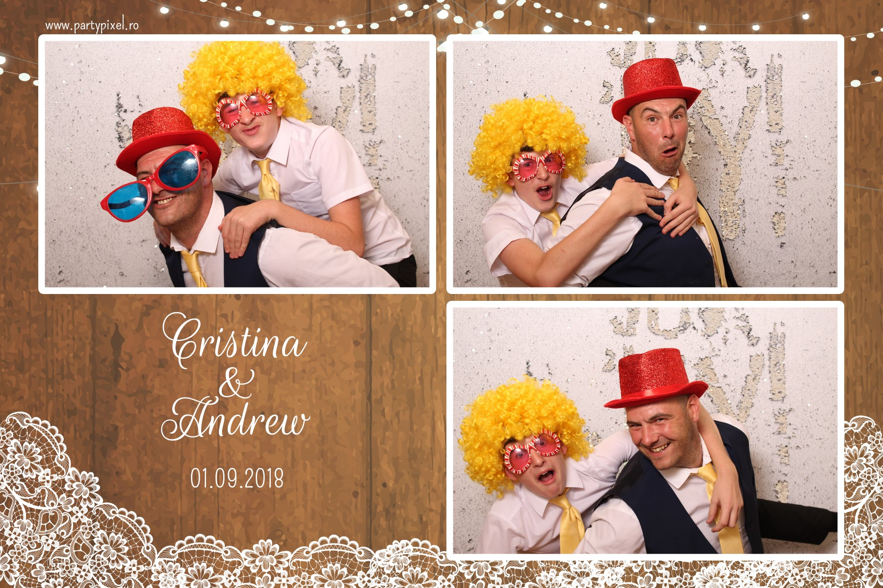 Cabina foto nunta Cristina si Andrew