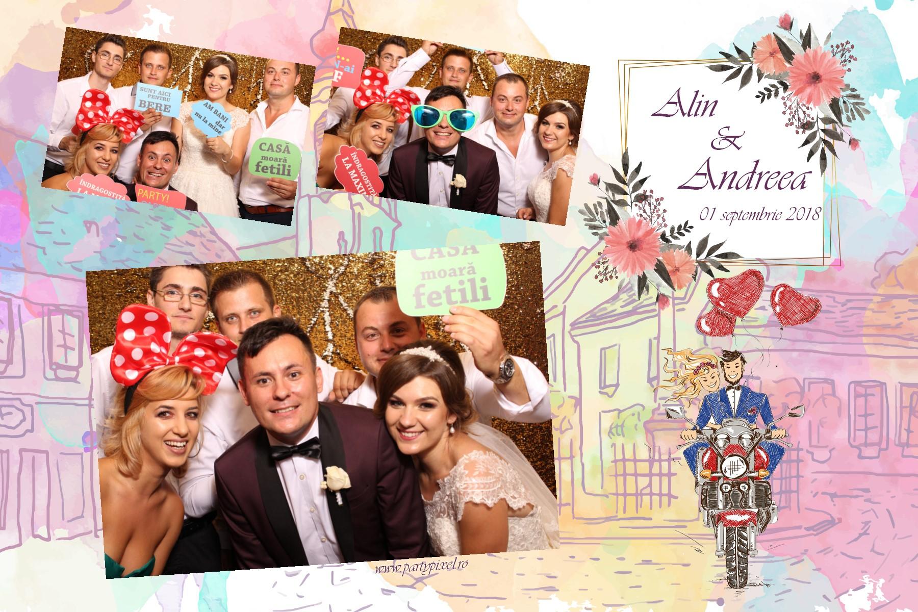 Cabina foto nunta Alin si Andreea