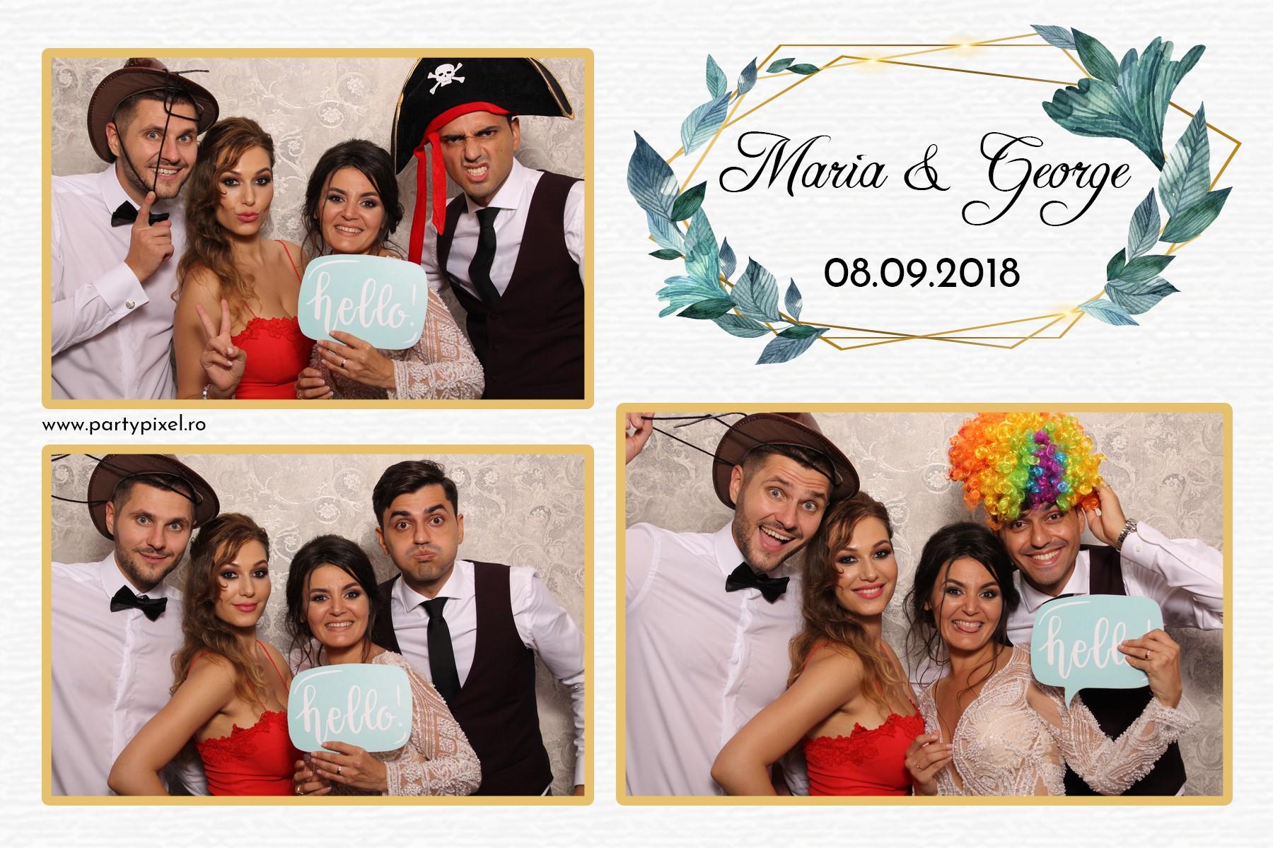 Cabina foto nunta Maria si George